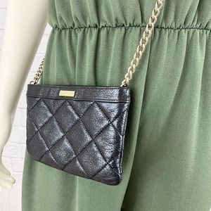 Kate Spade Black Quilted Leather Crossbody…
